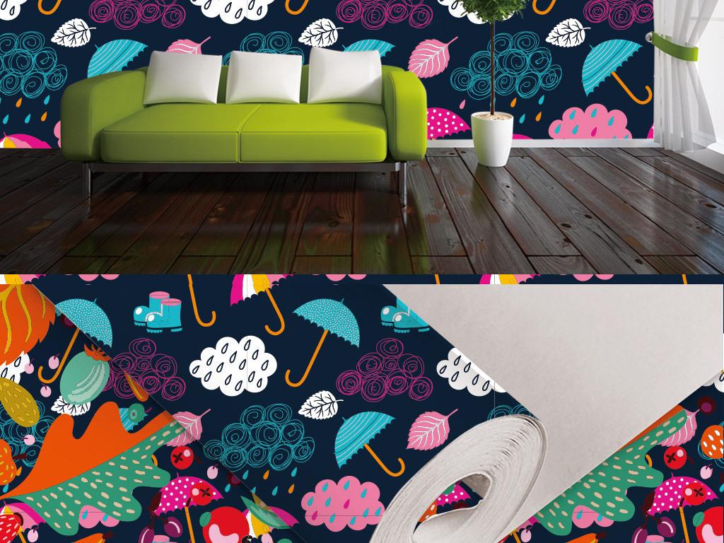 客厅卧室背景温馨风格简约清新背景花纹底纹边框客厅沙发背景墙