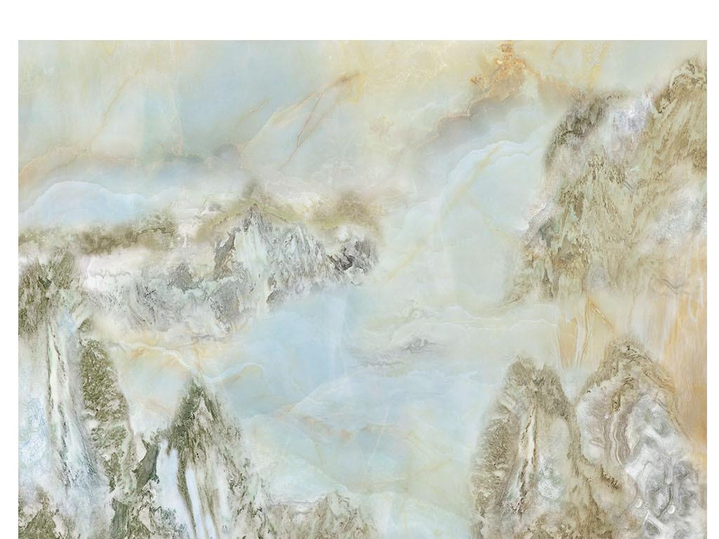 高清大理石纹江山如画山水背景墙