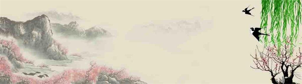 文化中国风水墨画风景画设计图片