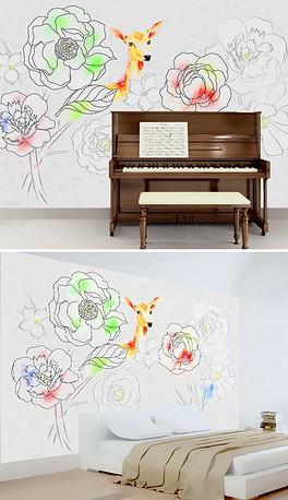 TIF不分层儿童铅笔画 TIF不分层格式儿童铅笔画素材图片 TIF不分层儿童铅笔画设计模板 我图网