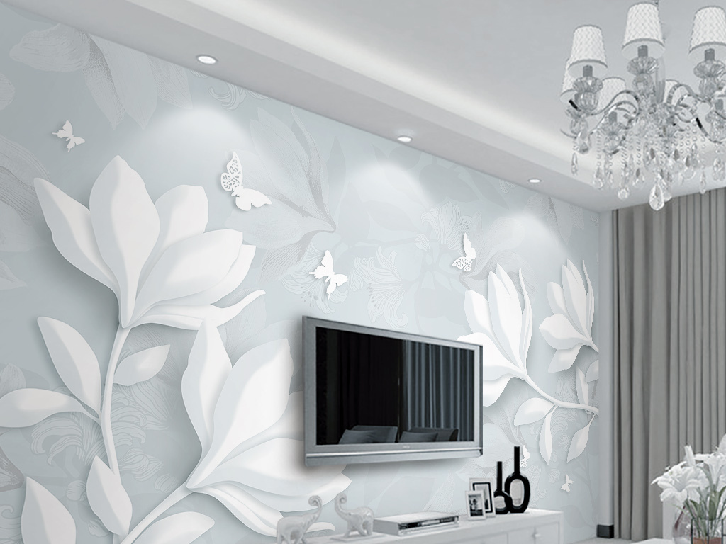 tif分层)2016最流行3d立体瓷砖背景墙4d壁纸背景墙效果图立体客厅壁画