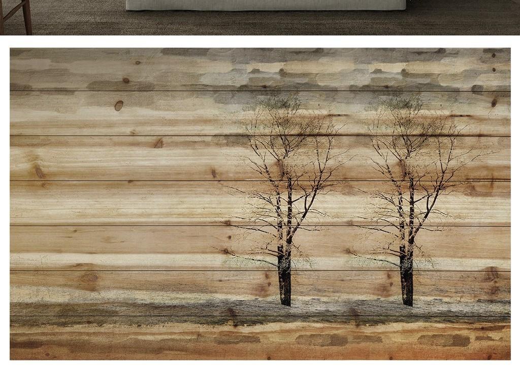 3d素雅北欧现代风格木材纹理电视背景墙图片