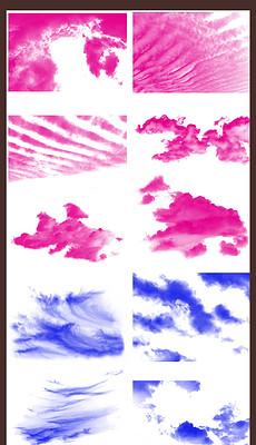 Ps白云云雾彩色笔刷abr图片下载-ps云彩素材 ps云彩模板下载 ps云彩