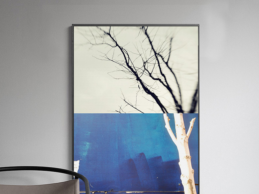 现代抽象大树装饰画