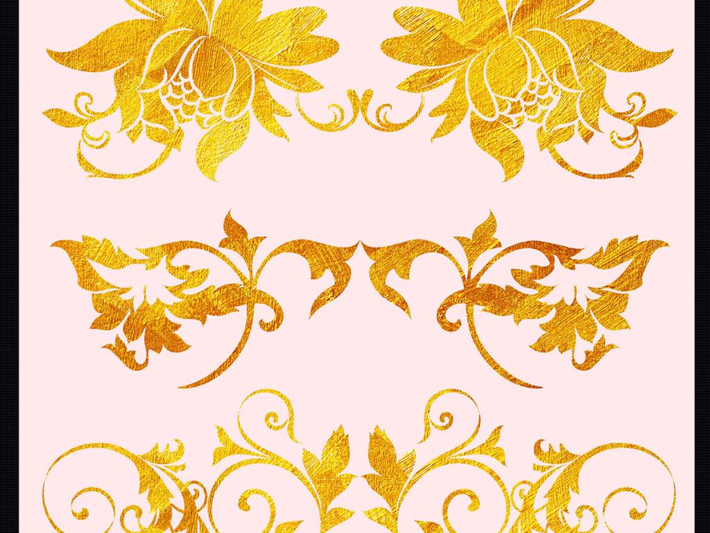 经典欧式花纹花边花瓣ps素材图片下载