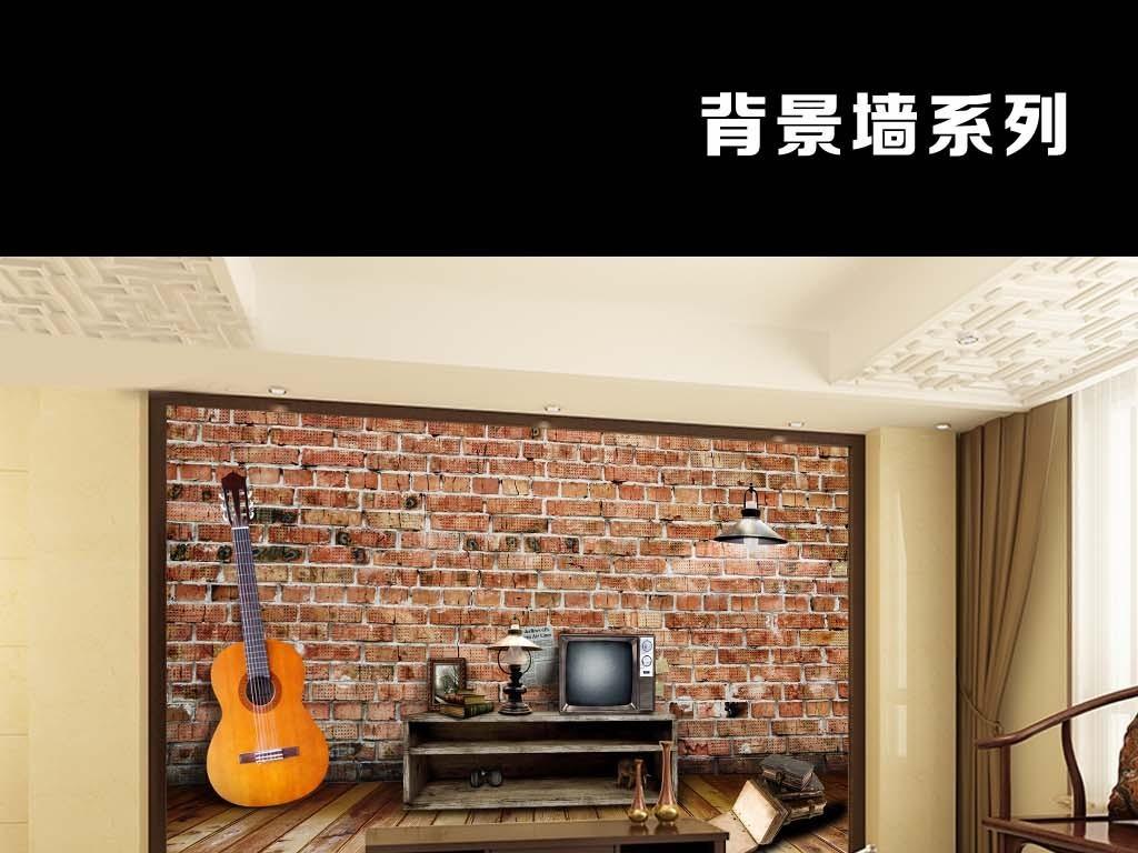 背景赤脚童年回忆吉他音乐电视女生墙初中复古跳舞欧美图片
