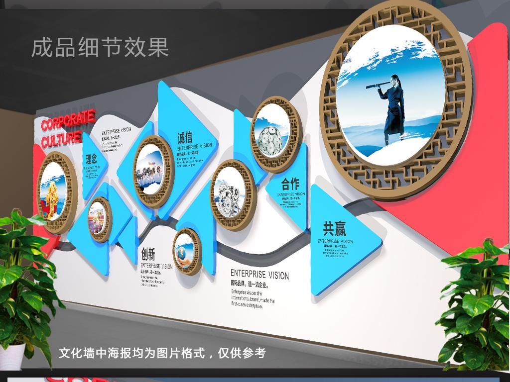 企业展板设计 > 创意异型企业文化墙形象墙  版权图片 设计师 : qq
