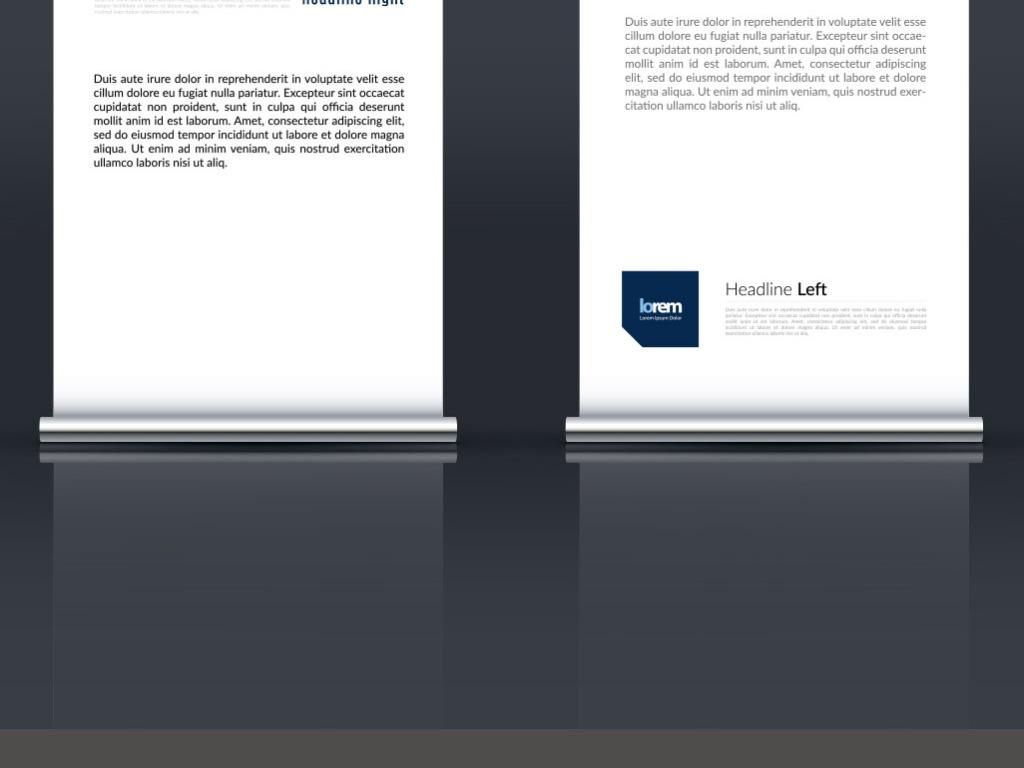 平面|广告设计 展板设计 x展架设计 > 国外创意展板x展架易拉宝模板
