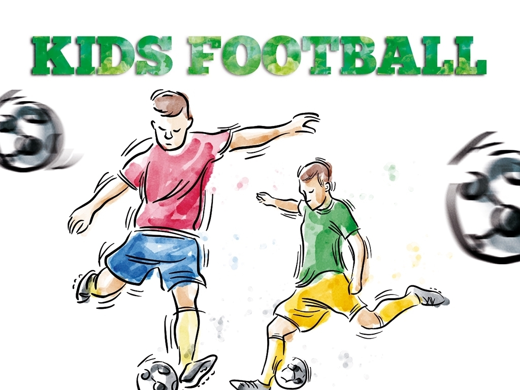 创意手绘足球培训宣传海报psd模板