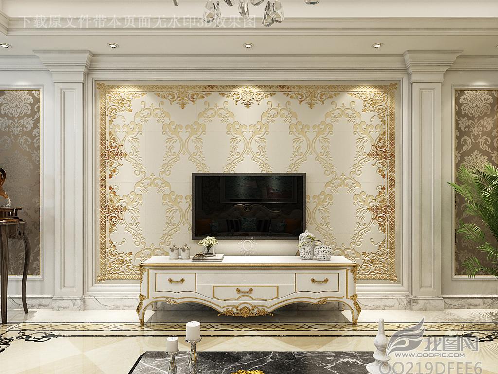 玻璃电视背景墙客厅电视墙欧式古典花纹欧式电视背景墙欧式背景墙欧式