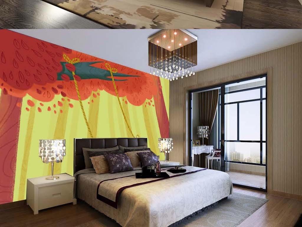 风景画油画客厅工装电视墙家庭田园墙画壁纸装饰画立体画手绘唯美艺