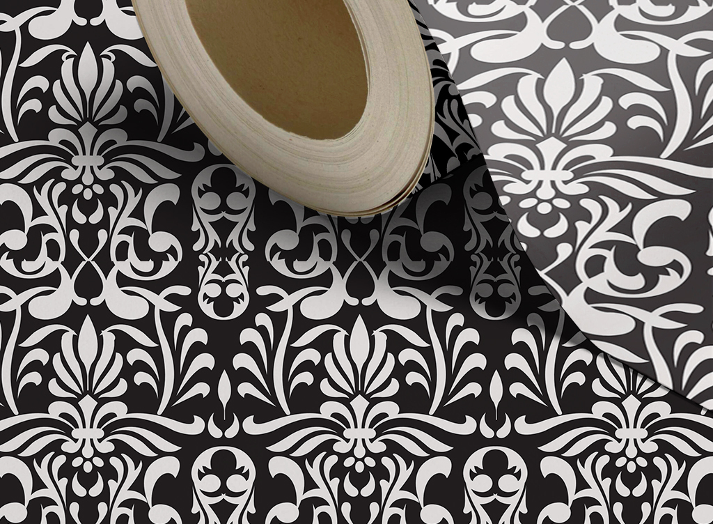 欧式白色花纹墙纸(图片编号:15691636)_欧式墙纸_我