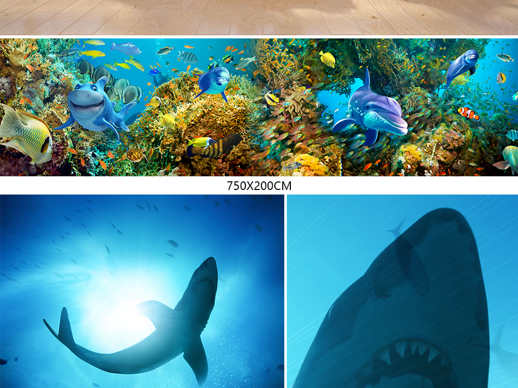 我图网提供精品流行海底世界海洋馆海豚海藻全屋背景墙壁画素材下载,作品模板源文件可以编辑替换,设计作品简介: 海底世界海洋馆海豚海藻全屋背景墙壁画 位图, RGB格式高清大图,使用软件为 Photoshop CC(.psd)