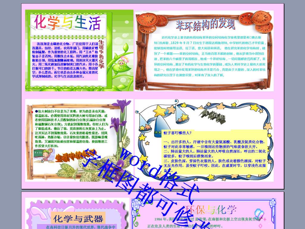 手抄报|小报 其他 其他 > 化学与生活电子小报  版权图片 分享