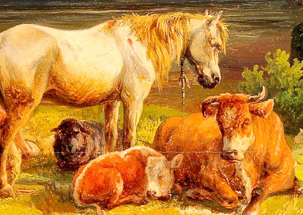 欧式乡村风景油画