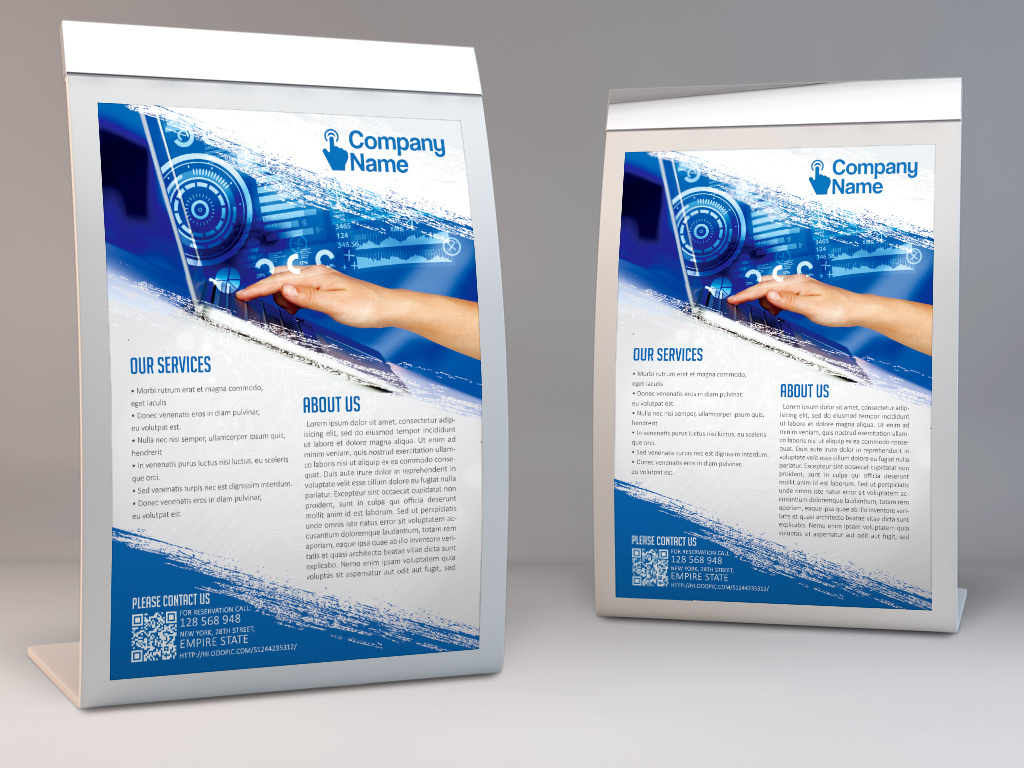 数码电子计算机网络创新科技公司宣传海报