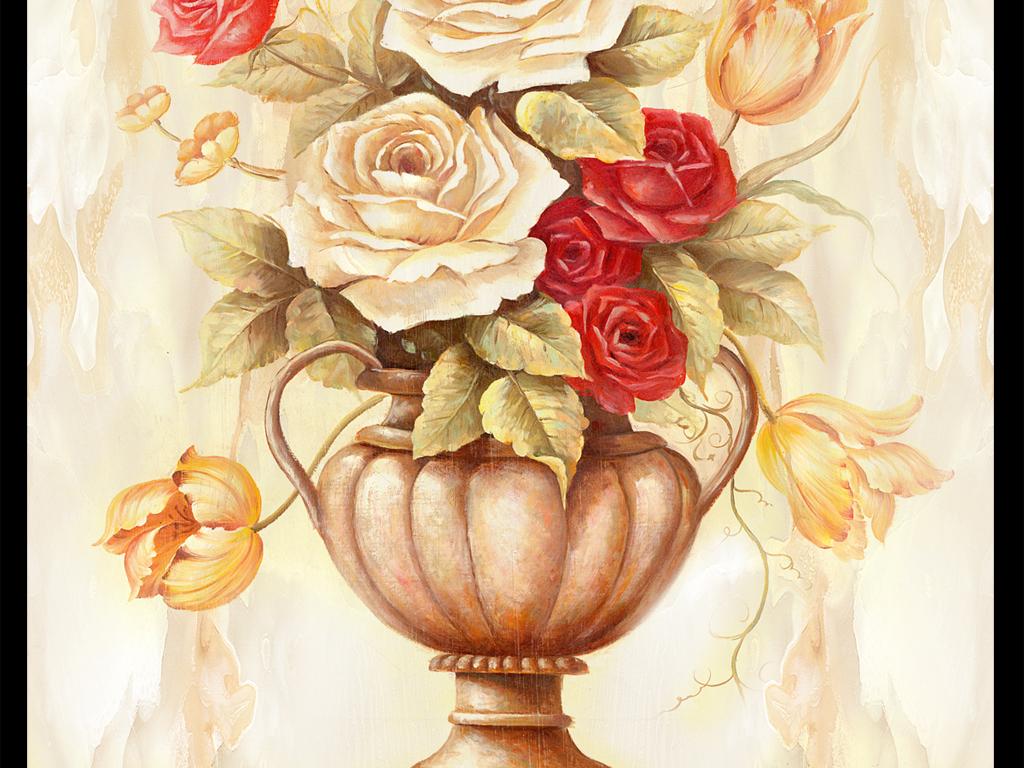 线描花卉白描欧式大理石纹石纹背景欧式石纹欧式背景欧式花卉大理花卉