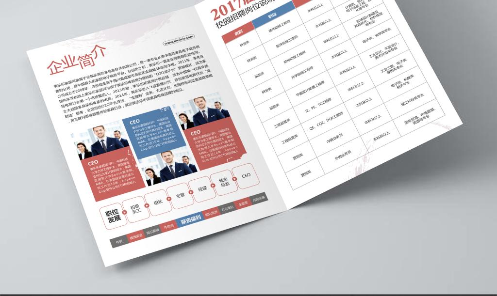 平面|广告设计 宣传单 折页设计|模板 > 简约风格校园招聘2折页