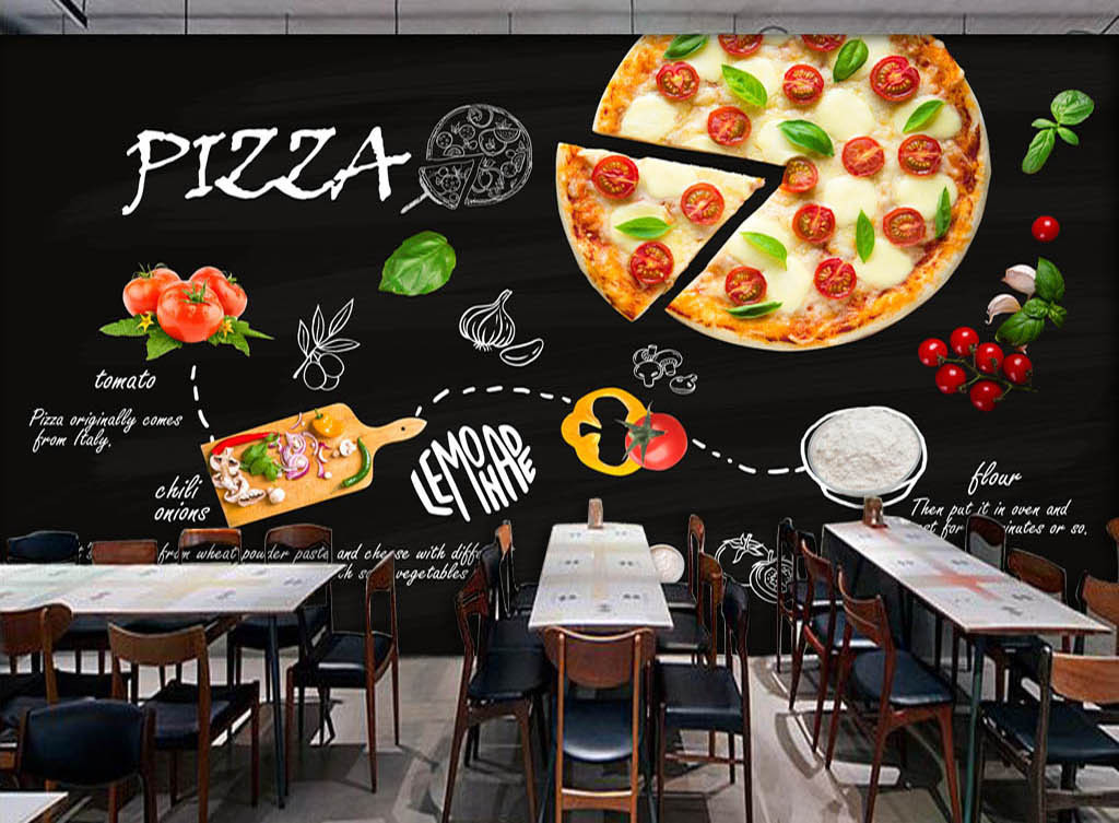 背景墙 装饰画 工装背景墙 酒店 餐饮业装饰背景墙 > 黑色手绘意大利