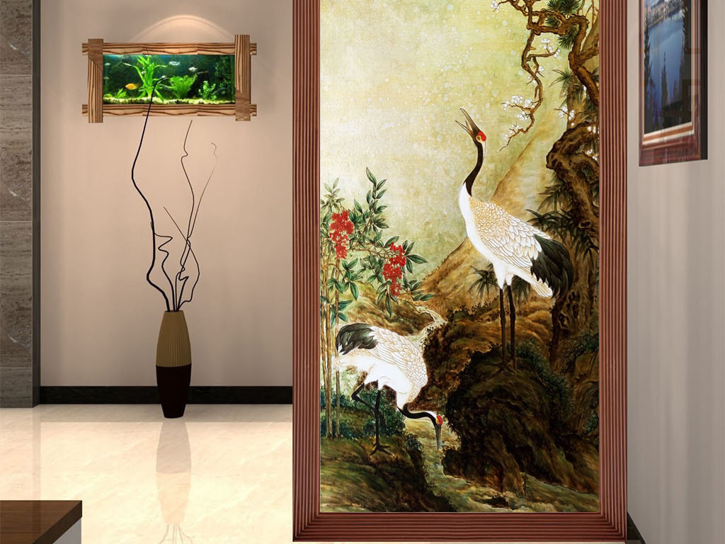 玄关山水风景画图片山水风景画素材下载水墨山水风景画现代山水风景画