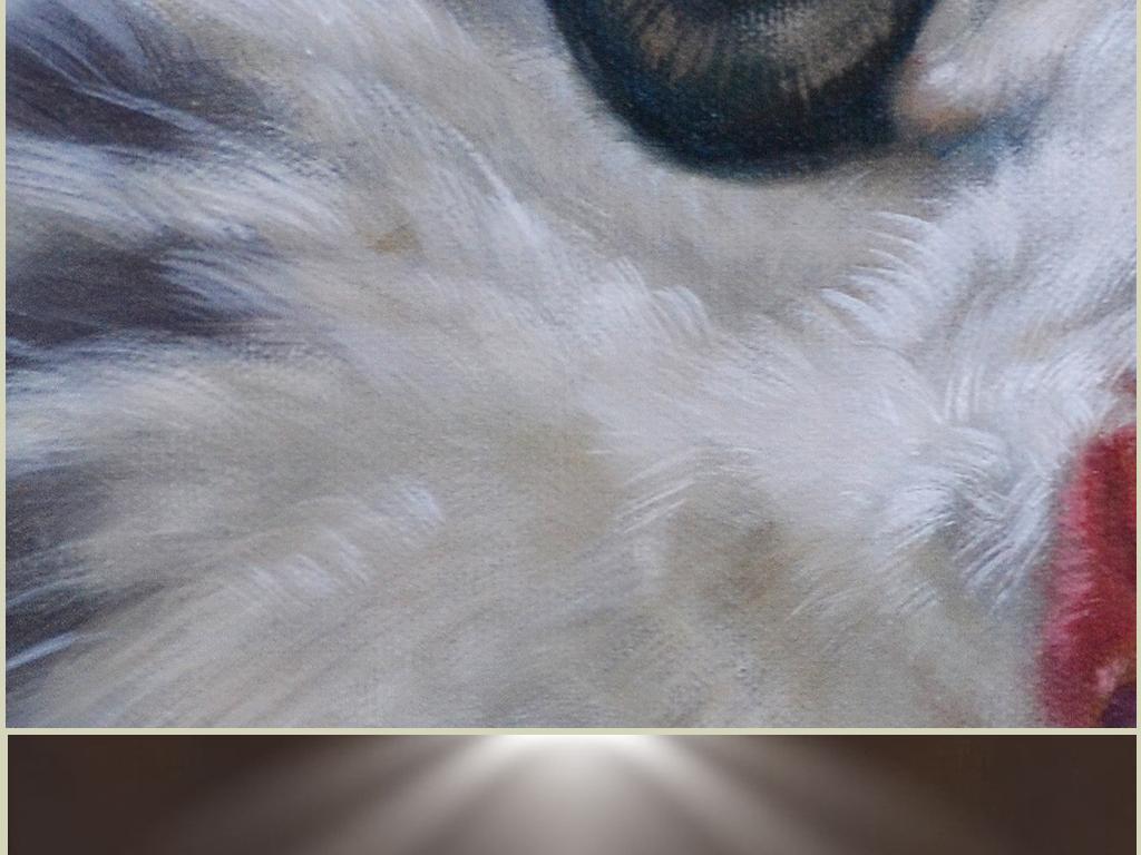 呆萌动物高清装饰组合油画