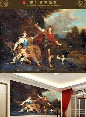 维纳斯油画背景墙图片设计素材 高清模板下载 197.24MB 油画 立体油画电视背景墙大全
