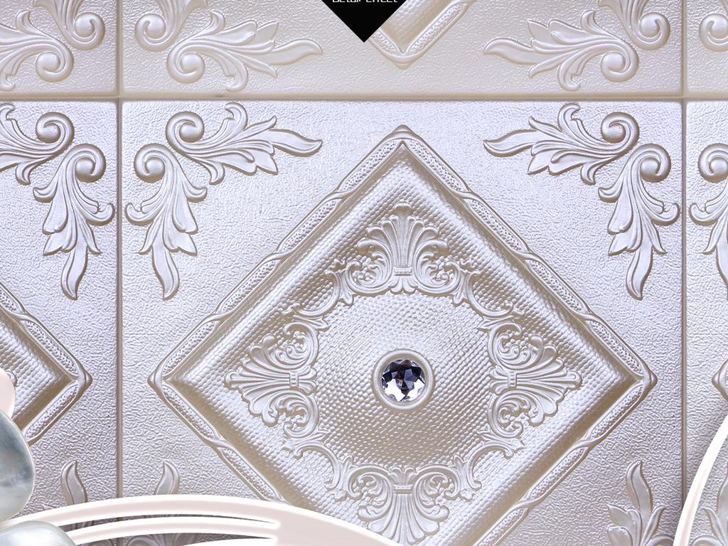 高端珠宝背景奢华欧式银色背景欧式奢华欧式花纹墙纸欧式花纹背景墙