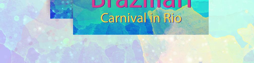 七彩巴西狂欢节海报手绘风格