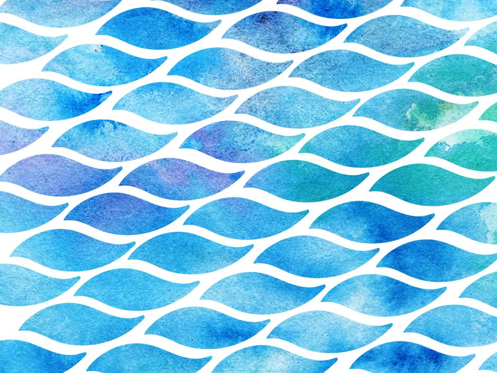 精美水花水矢量图波浪效果