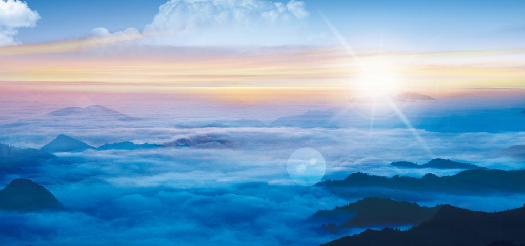 平面|广告设计 微信营销模板 品牌宣传模板 > 蓝天云海风景商务banner