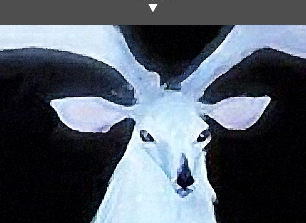 大角驯鹿黑底手绘水彩画现代简约室内装饰画