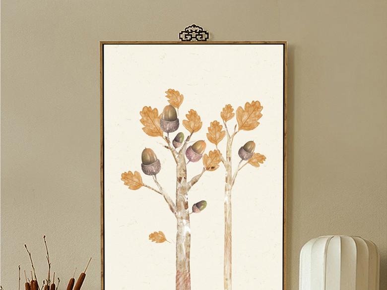 美克美家北欧美式抽象森林系列装饰画