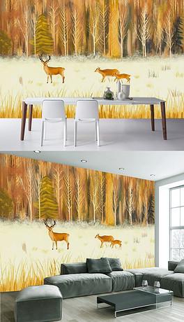 JPG森林主题墙绘