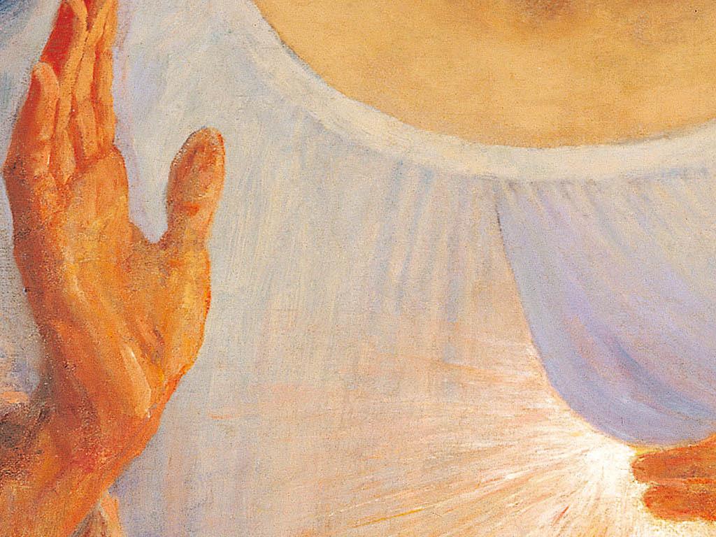 高清大图油画基督耶稣圣心画像装饰画
