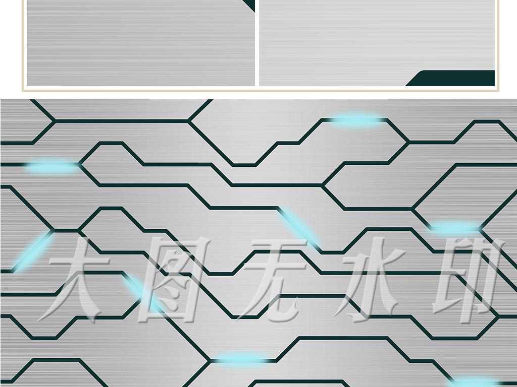 现代简约时尚电路图背景墙装饰画