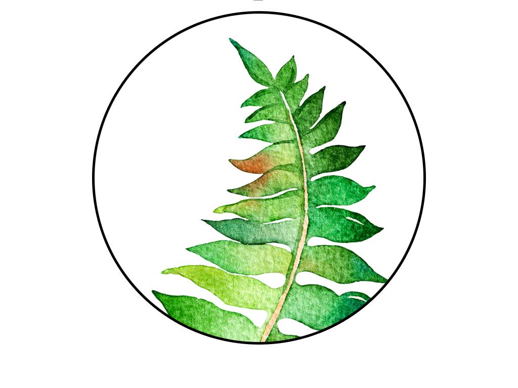 绿色森系小清新北欧风格无框卡纸装饰画