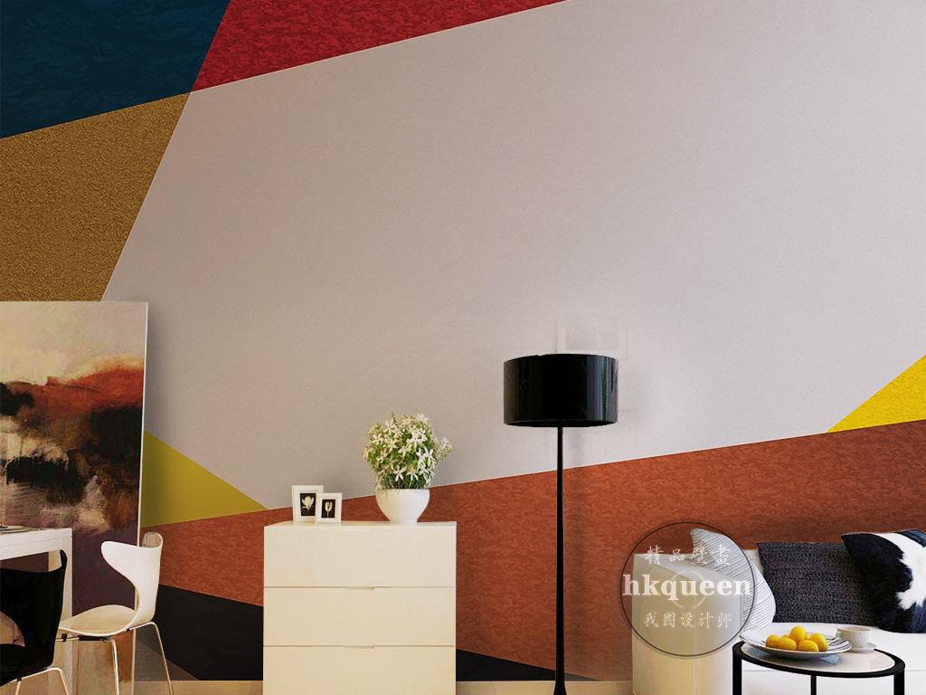 电视背景墙 现代简约电视背景墙 > 北欧现代简约简单几何图形色彩纹理