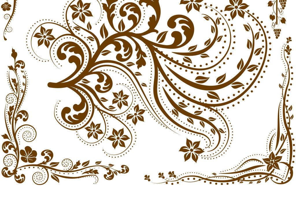 平面|广告设计 其他 设计素材 > 复古欧式花纹装饰边框图  版权图片
