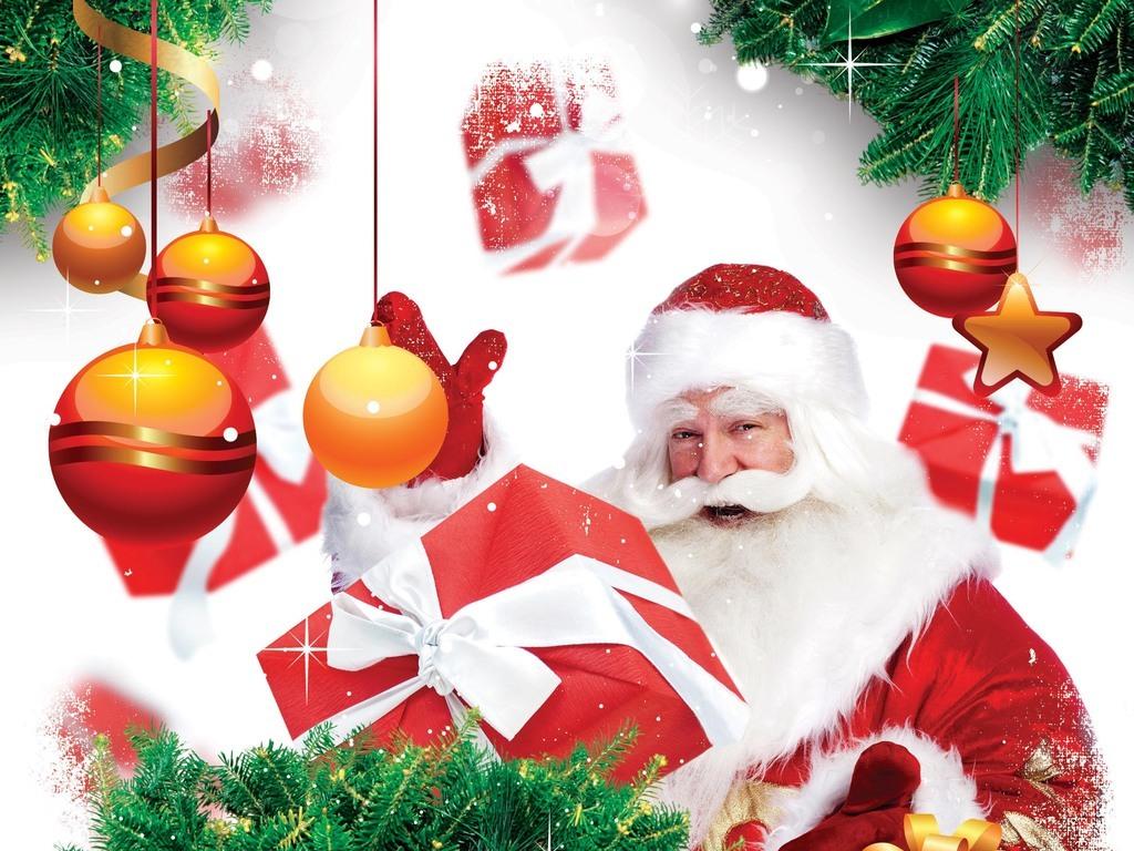 梦幻华丽魔法圣诞节儿童活动宣传海报模板