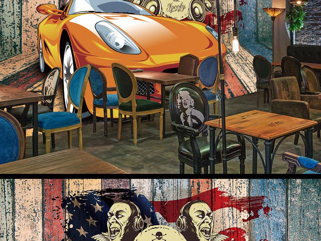 壁纸贴图手绘嘻哈
