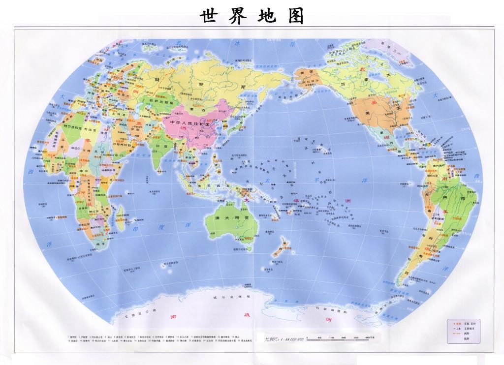 世界地图新版高清大图