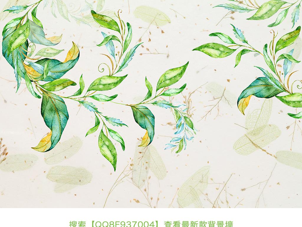 现代简约手绘水墨画装饰背景墙