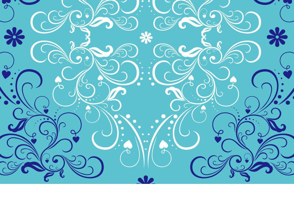 叶子文字手绘水彩花朵底纹背景手绘花朵背景彩绘花纹底纹