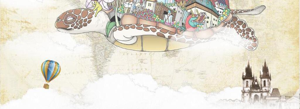 城堡热气球卡通背景手绘背景卡通手绘手绘卡通儿童卡通卡通儿童飞翔