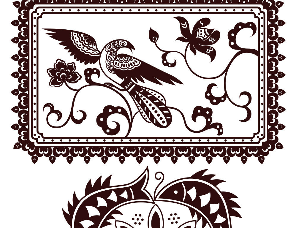 设计元素 背景素材 欧式复古花纹底纹矢量图                原创设计