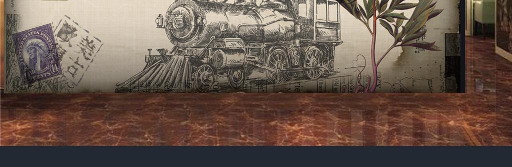 背景怀旧复古花卉背景怀旧火车欧美复古复古素材欧式复古复古装饰画
