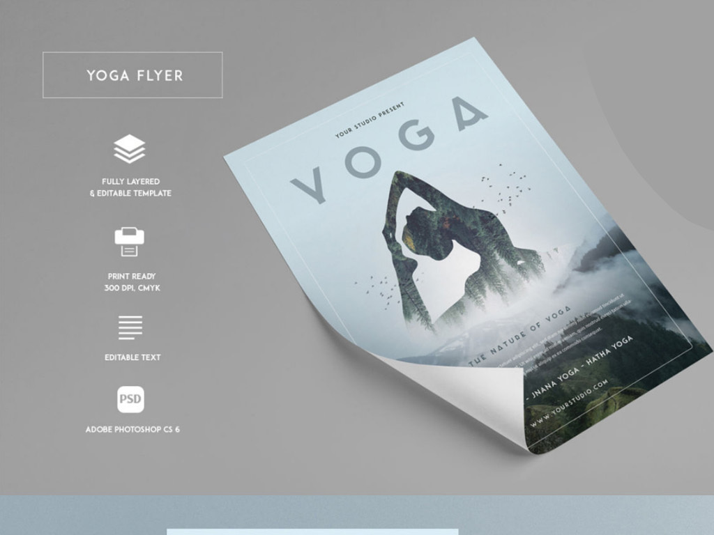 健身瑜伽瘦身宣传海报设计模板