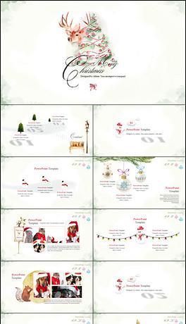 PPTX复古圣诞 PPTX格式复古圣诞素材图片 PPTX复古圣诞设计模板 我图网