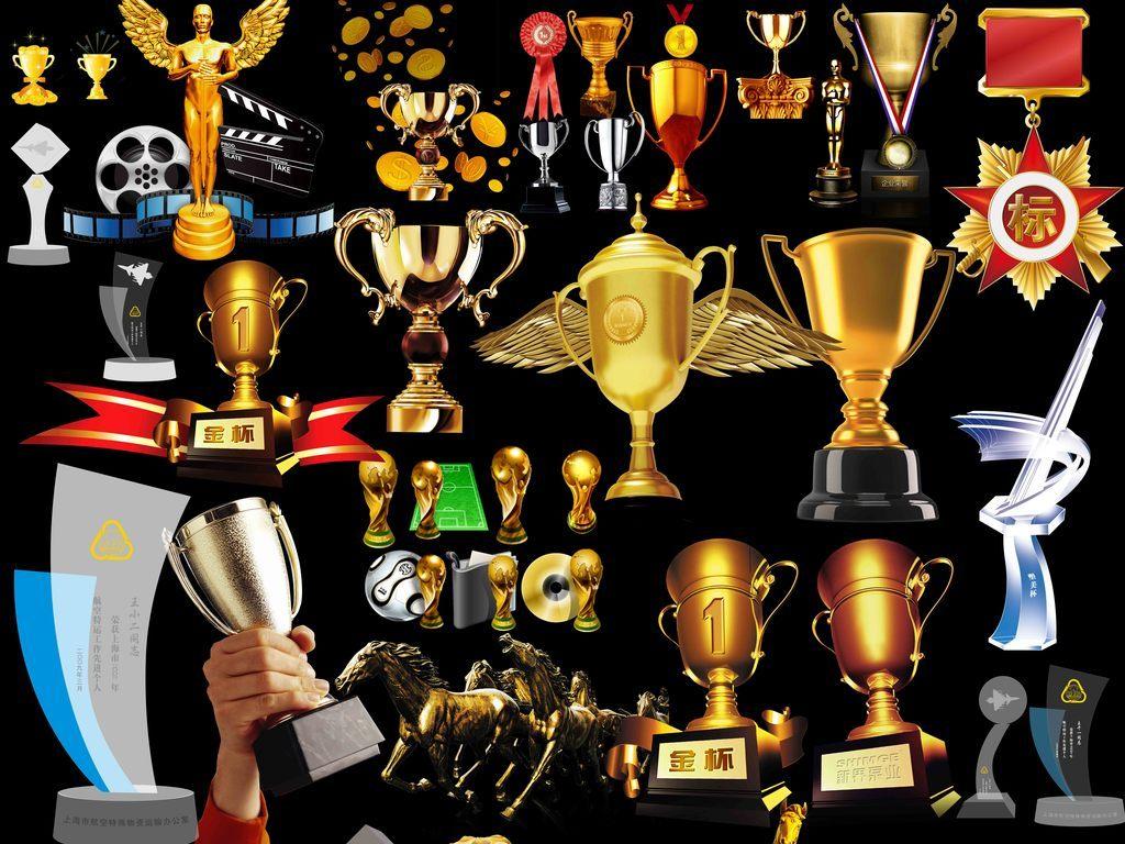 各种奖杯奖牌设计元素