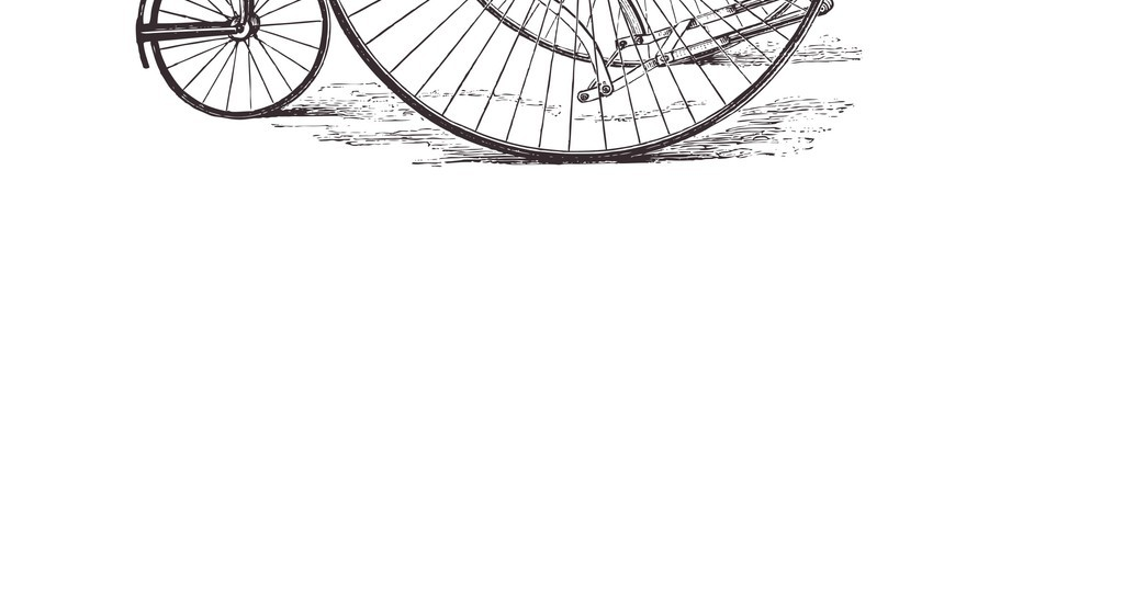 手绘自行车自行车轮胎